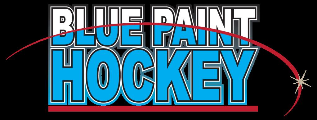 Blue Paint Hockey Logo