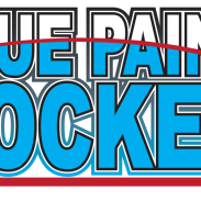 Blue Paint Hockey Logo